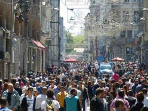 Istiklal Caddesi (Istiklal Street), Hub of Shopping in Istanbul, Turkey