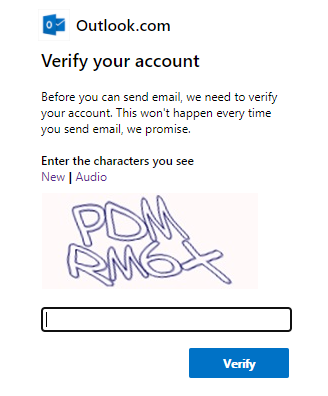 Verify your email account - How to fix the attachments not opening / downloading problem on outlook.com
